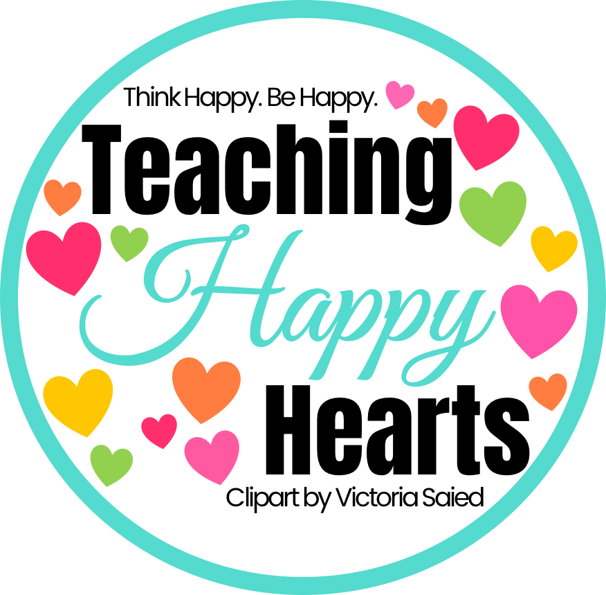 teaching happy hearts round clipart logo